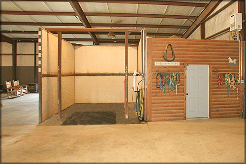 Great To The Immediate Right Is The Feed Room. To The Immediate Left Is Office.  There Is A 12 X 12 Feed Room; A 12 X 12 Office; ...